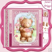 SENDING KISSES All Occasions 7.5 Decoupage & Insert Mini Kit
