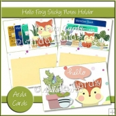 Hello Foxy Sticky Notes Holder