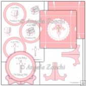 Girl Christening Plate Stand and Box