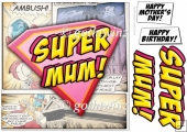 Supermum Logo 8x8 Quick Card With Matching Insert