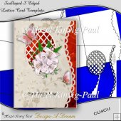 Scalloped S Edged Lattice Card Template