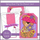 Spring Bear Pop Out Banner Card