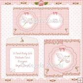 SWEET BABY GIRL FOLDBACK CARD