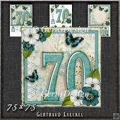 Vintage 70th Birthday Topper Card Kit 1190
