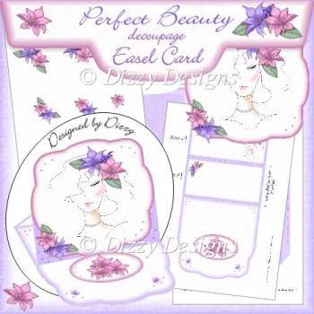 Perfect Beauty Shaped Easel Card