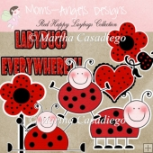 Red Happy Ladybugs Collection