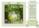 Unicorn Magic - Square Card Topper With Greetings Tags