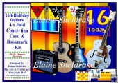 16th Birthday Guitars - Over The Edge Concertina Card Kit