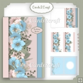 Layered blue flower card