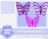 Butterfly Trio in GSD and SVG