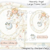 Heavenly Angel Large Frame Card