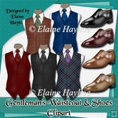 Gentleman's Waistcoat and Shoes Clipart
