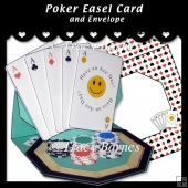 Poker Easel Card & Envelope