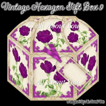 Vintage Hexagon Gift Box 9