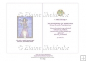 Imbolc Candlemass Goddess - A5 Card Insert With Blessing