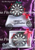 3D Dartboard & Box, SVG, MTC, CAMEO, CRICUT, ScanNCut