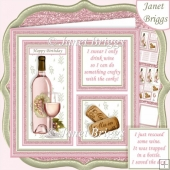 ROSE WINE SAVE THE DAY or CRAFTY CORKS 7.5 Quick Layer Card Kit