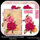 Beautiful Roses with Decoupage Card Front