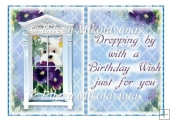 Adorable Westie Birthday Card Insert