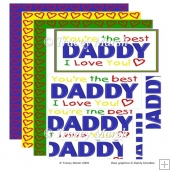 The Best Daddy Pyramage Topper Set