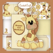 Giraffe shaped Birthday card set