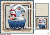 7.5 x 7.5 Card Topper & Gifttag Christmas 7