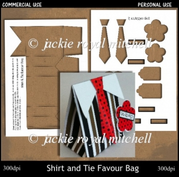 CU Shirt and Tie Favour Bag Template
