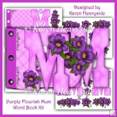 Purple Flourish Mum Word Book