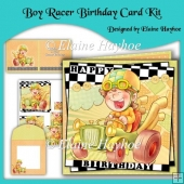 Boy Racer Birthday Card Kit