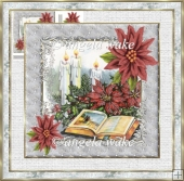 Bible and holly 7x7 card with decoupage