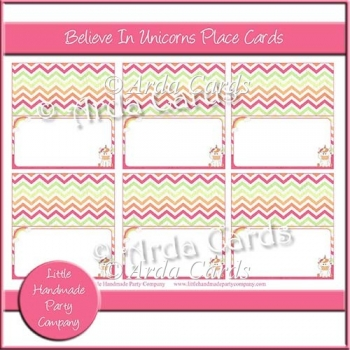 Believe In Unicorns Place Cards