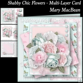 Shabby Chic Flowers - Multi-Layer Card