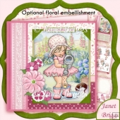 Little Garden Helper 8x8 Decoupage Kit Various Occasion