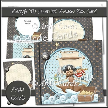 Aaargh Me Hearties Shadow Box Card