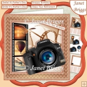CAMERA SNAPSHOTS UP UP AND AWAY 7.5 Decoupage & Insert Mini Kit