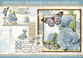 BUTTERFLY BLOSSOMS 4 SHEET MINI KIT Light Blue