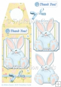 Blue Bunny Bottle Gift Tag with Decoupage & Extra Sentiment Tags