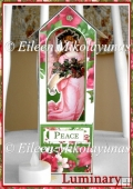 Peace on Earth Christmas Angel Luminary with Directions
