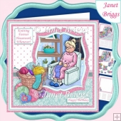 KNITTING FOREVER HOUSEWORK WHENEVER Humorous 7.5 Decoupage Kit