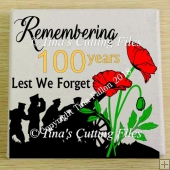 Remembrance Day , Poppy Day , Armistice Day Design cut file b