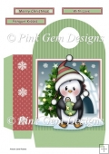 Penguin with Christmas Bauble Large Gift Bag