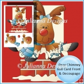 Dear Chimney 8x8 Card Front & Decoupage