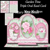 Garden Time - Triple Oval Easel Card