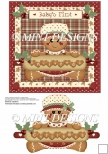 BABY'S FIRST CHRISTMAS - GINGERBREAD GIRL QUICK CARD TOPPER