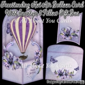 Freestanding Hot Air Balloon Card & Envelope & Pillow Gift Box