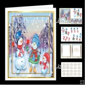 Snowmen Walk 5 x 7 Mini kit