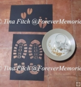 Santa, Elf & reindeer Foot prints Stencil TF0183, SVG,CAMEO,
