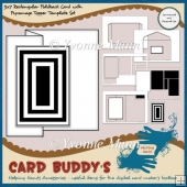 5x7 Rectangular Foldback Card with Pyramage Topper Template Set