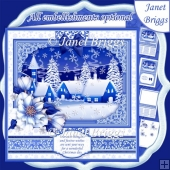 WINTER HAMLET Christmas 7.8 Quick Layer Card or Decoupage Kit