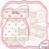 Baby Girl Dress Shaped Card Mini Kit